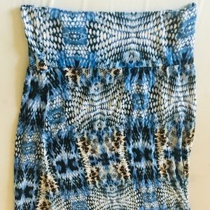Tube Style Blue Dress WET SEAL